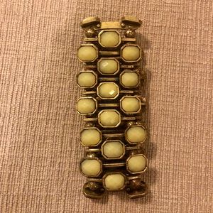 J. Crew green and brushed gold bracelet